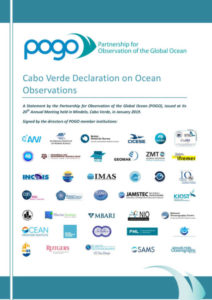 Cabo Verde Declaration on Ocean Observations