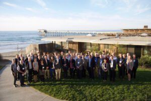 POGO-19 attendees, with Scripps Pier in the background. Photo credit: Scripps